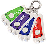 Rectangular Dual LED Keychains